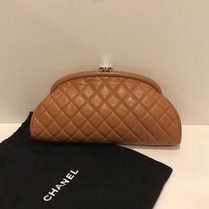 Chanel Tan Clutch